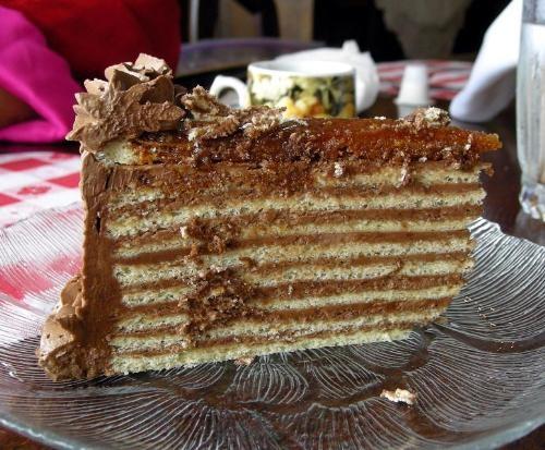 Best Hungarian treat Dobos Torta (Drum Cake)