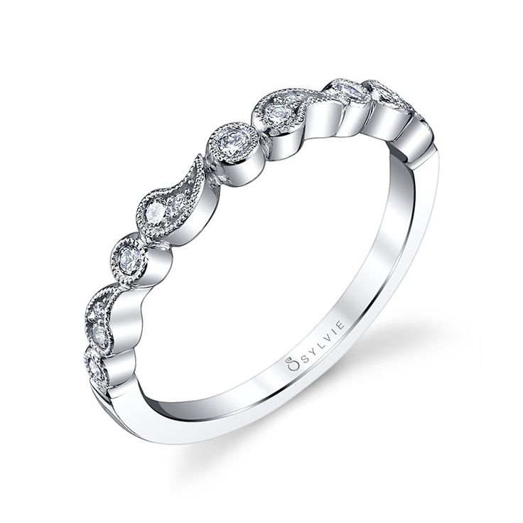 Trending Bezel White Gold Diamond Wedding Band Diamond Wedding Band