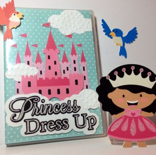 Tiny Princesses Paper Dolls with storage case. #SilhouettePortrait #SilhouetteCameo #Paper #Craft  #Handmade #TinyPrincess #PaperDolls #LittleGirl