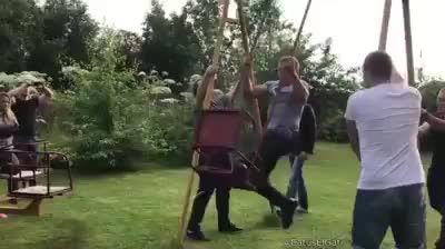 Doing a whole flip in a swing