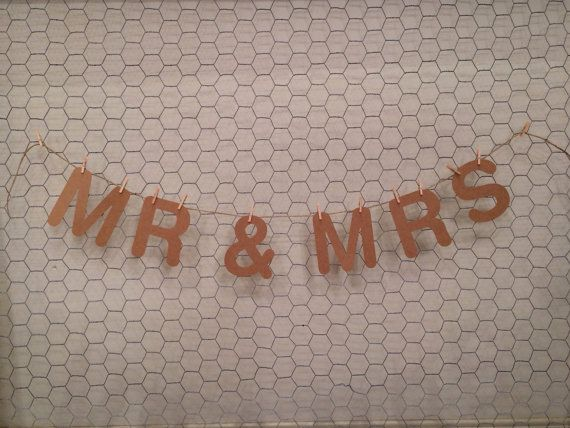 Mr & Mrs wedding bunting by HandmadeWithLove001 on Etsy