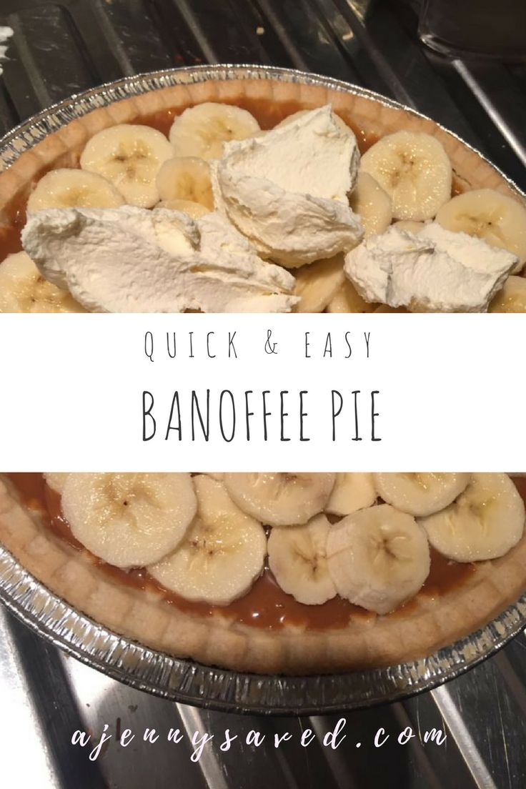 Quick and Easy, Banoffee Pie is a classic, scrumptious, delicious dessert that you can make at anytime of the week. 4 simple ingredients is all you need!