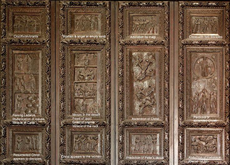 Superb Ancient Door Of Santa Sabina, Rome.