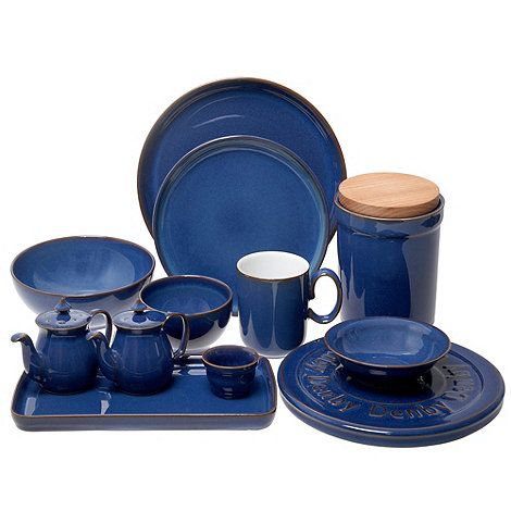 This 12 piece dinner set from Denby comes in dark blue with a glossy glaze and compromises of four dinner plates four side plates and four bowls.  sc 1 st  Pinterest & 107 best Denby images on Pinterest | Regency Dinner ware and Dinnerware