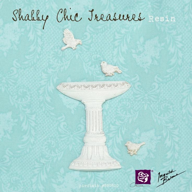 Shabby Chic Resin Treasures - Birdbath