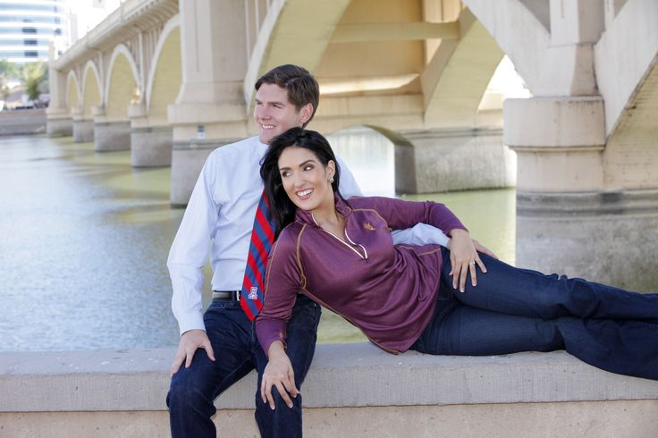 Engagement Photo - elegant - love - cute - young couple - attractive - romance  Location: Arizona ASU and UofA. College Rivals.  Photo Credit: Joseph Saadeh