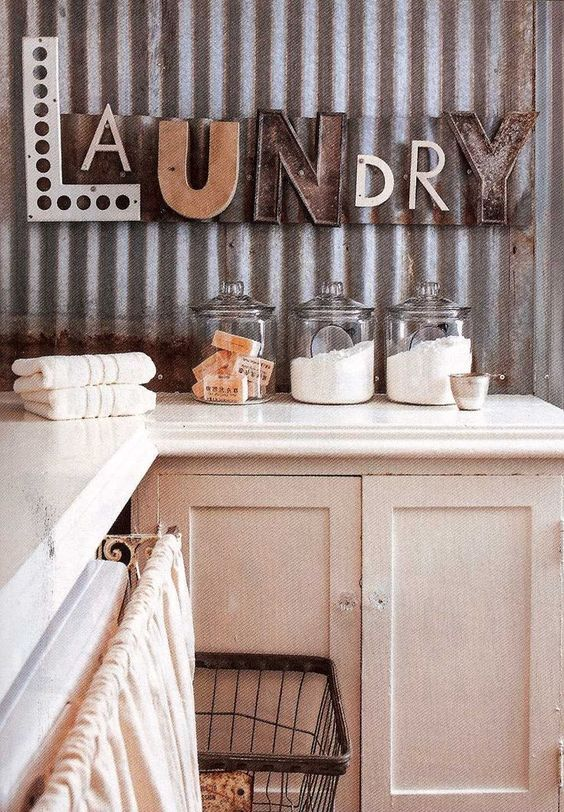 DIY Projects with Letters • Lot's of easy tutorials, including this laundry letter project from 'Lolly Jane'!