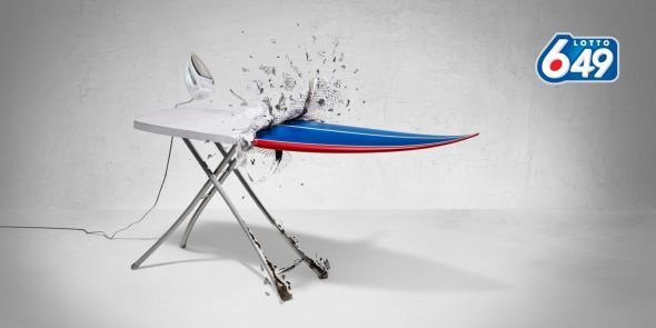 Lotto 649: Ironing Board   Ads of the World™