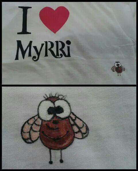 Myrri paitaan tippu maalia väärään kohtaan ja meni pilalle vai menikö?:)
