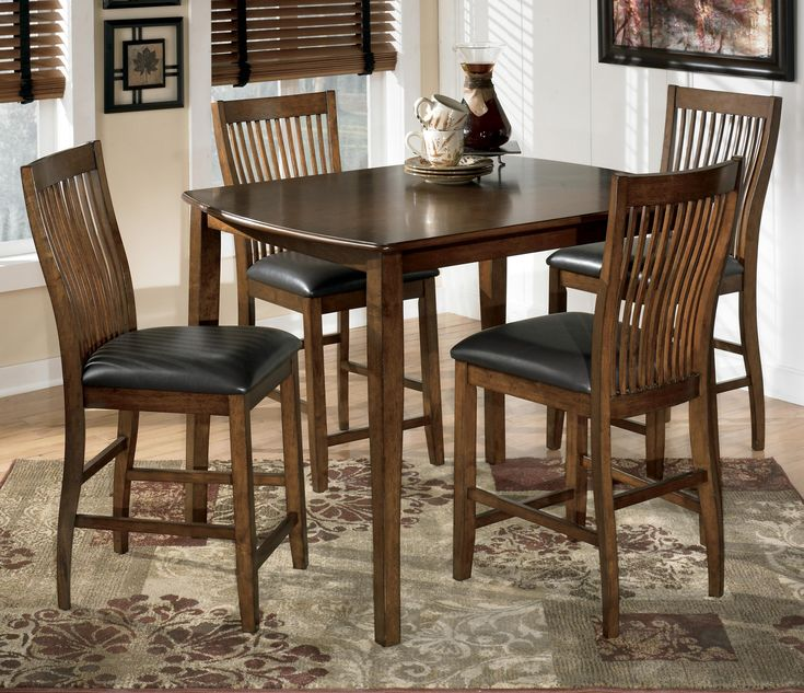 Stuman 5 Piece Rectangular Dining Room Counter Table Set By Signature Design Ashley