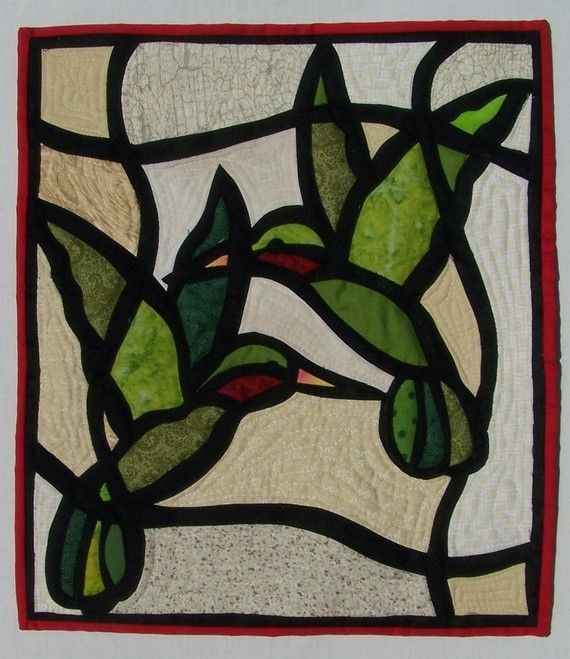 HUMMINGBIRDS quilted wall hanging by superpowersCC on Etsy, $65.00