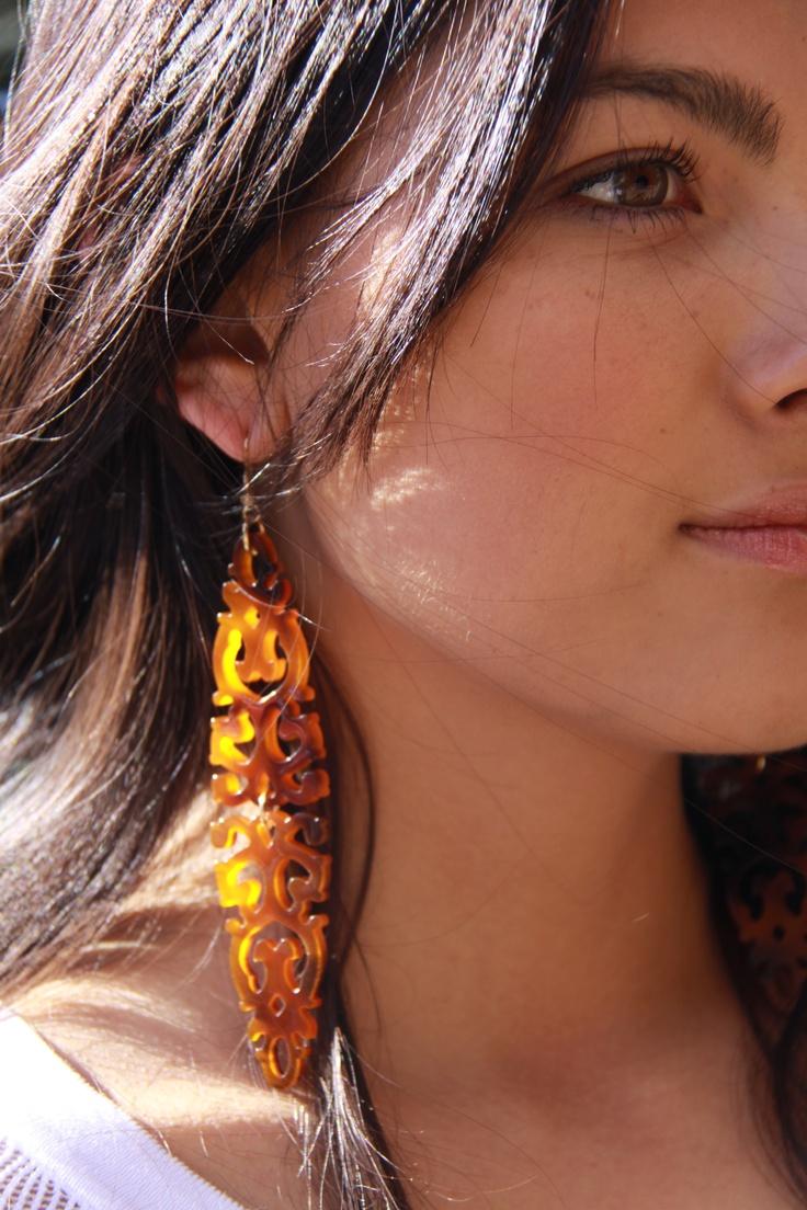 Lola & Syd orient earrings in tortoise shell
