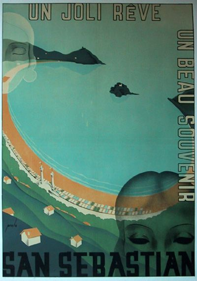 San Sebastian C. 1930's #travel #classic #posters