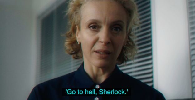 """I think she said this because in order to """"save John Watson"""", Sherlock will need to """"go to Hell"""" and get him back."""