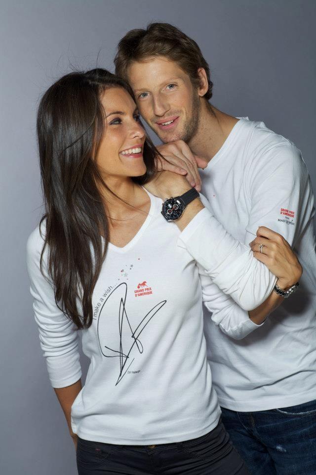 Marion Jollès, Présentatrice à TF1 - Ambassadrice de Make-A-Wish France, et Romain Grosjean (Pour en savoir plus : https://www.facebook.com/makeawishfrance )