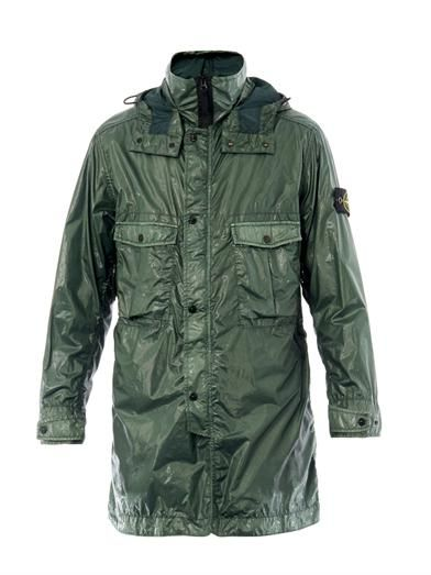 Stone Island Coated two-length parka MATCHESFASHION.COM #MATCHESFASHION #MATCHESMAN