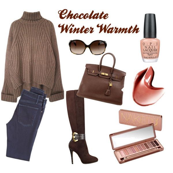 Chocolate Winter Warmth with a Touch of Nude
