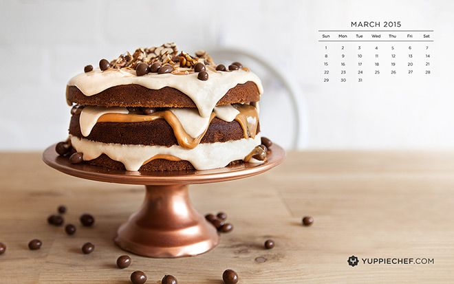 March's free wallpaper: Peanut butter cake for your screen