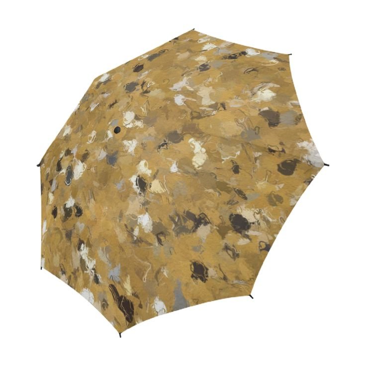 Gold and Gray Confetti 4302 Semi-Automatic Umbrella by Khoncepts