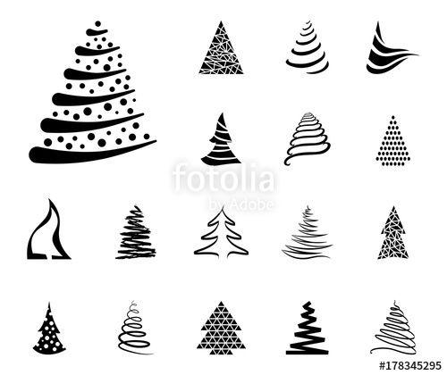 Vektor weihnachtsbaum iconset schwarz x mas maps - Weihnachtsbaum vektor ...