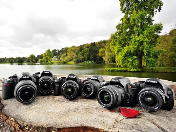 Looking to begin on a DSLR camera? this link goes through 6 potential buys giving you a break down on pro's and con's of each brand, software, lens availability and adaptability.