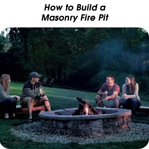 How to Build a Masonry Fire Pit - http://www.hometipsworld.com/how-to-build-a-masonry-fire-pit.html