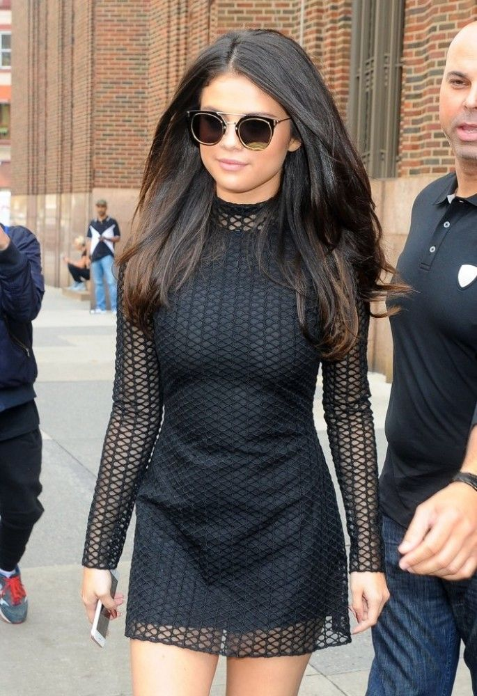 Selena Gomez sported luscious locks while out and about in NYC.