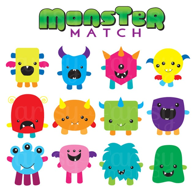 artsy-fartsy mama: a creative mama doing creative things!: Monster Match Game {Free Printable}
