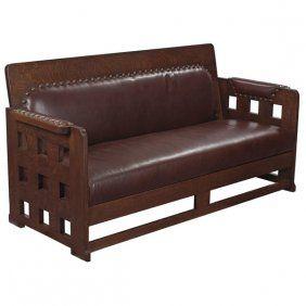 C1910 Arts U0026 Crafts Settle Karpen Furniture, Chicago, 72w, ...