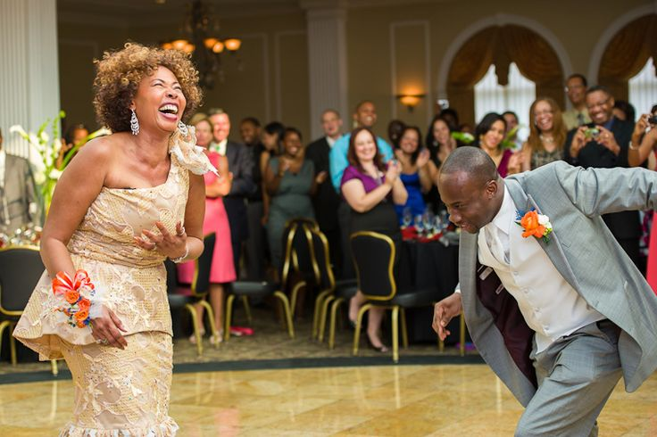Groom and his mother...breaking it down!