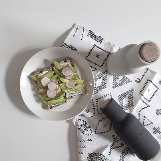 A pair of upside down salt and pepper mills with CrushGrind ceramic mechanisms. By placing the release point in the top your table is saved from potentially scratchy spillage.