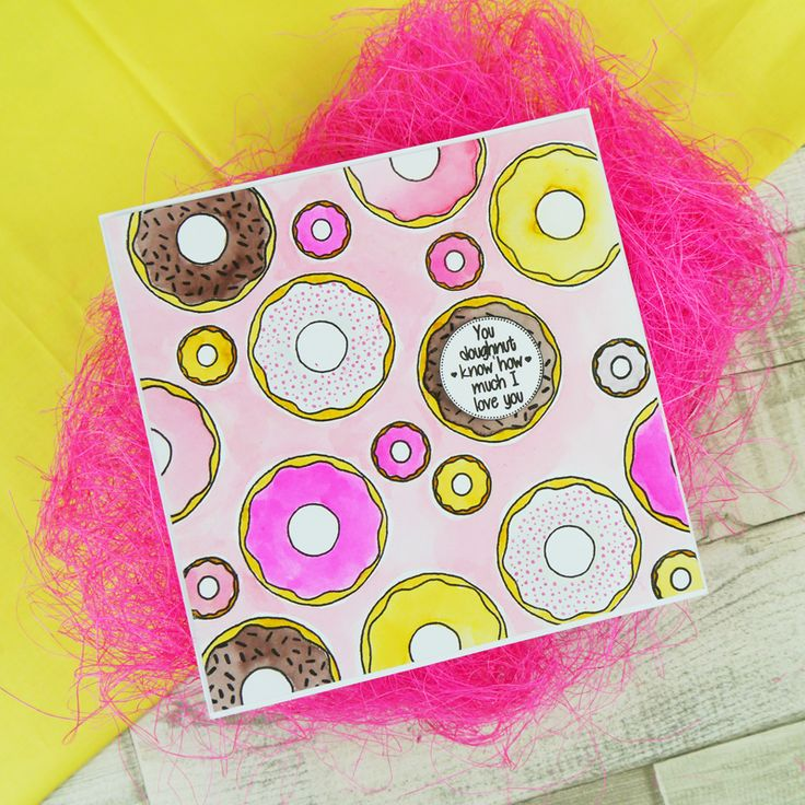 Card created using For the Love of Stamps Delicious Doughnuts Stamp Set