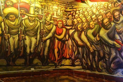 Mural de david alfaro siqueiros en el castillo de for David alfaro siqueiros mural tropical america