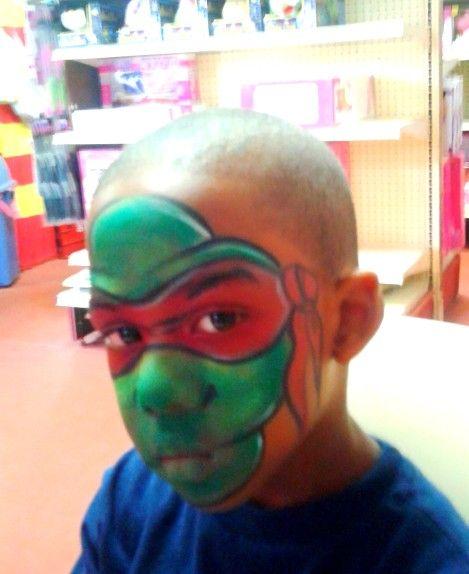 Ninja Turtle Face Paint Adults