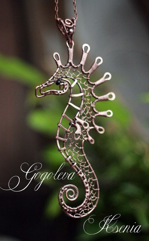 """Wire Pendants, Wire Animal, Wirework Seahorse, Loves Seahorses, Wire Wrapped Seahorse, Beautiful Wire, Wire Wrapping, Lovely Wirework. """""""