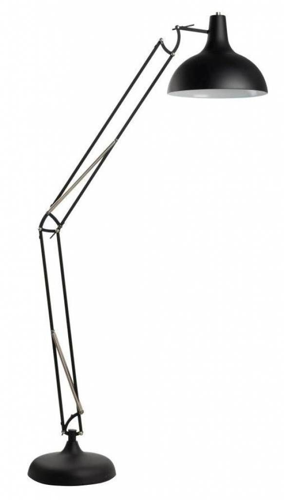 Zuiver Vloerlamp zwart metaal 38x30x190cm, Office black