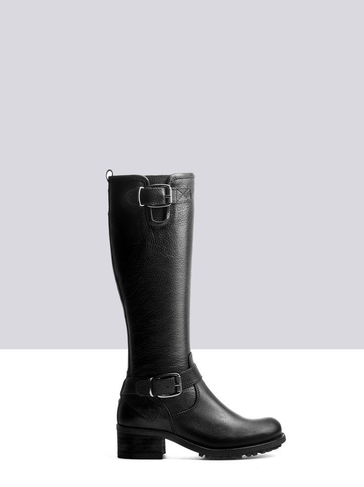 Demeter Black Leather womens-boots small 1 · Kniehohe StiefelArbeitskleidung StiefelettenKälberKniestrümpfeSchwarzes LederLederstiefelStiefelDamenstiefel