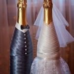 Мастер класс украшение бутылок лентами и другие аксессуары