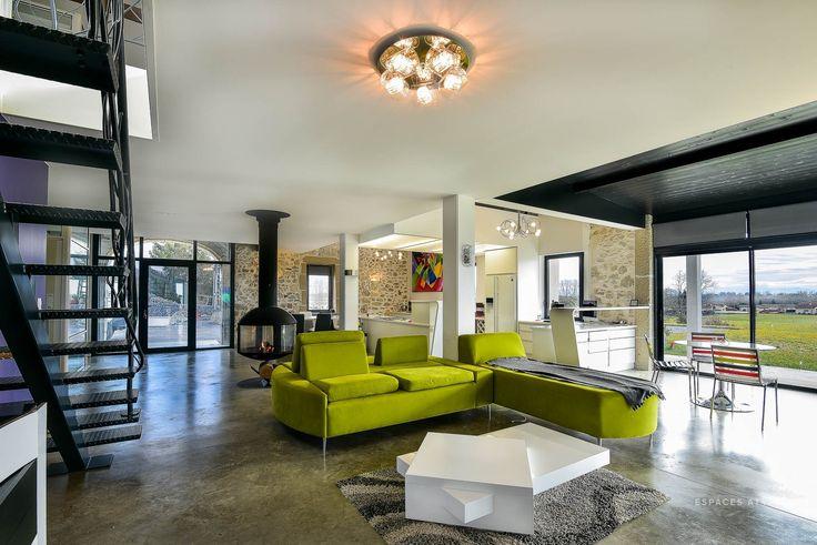 Peyrehorade : Landaise revisitée contemporain avec piscine intérieure - Agence EA Biarritz