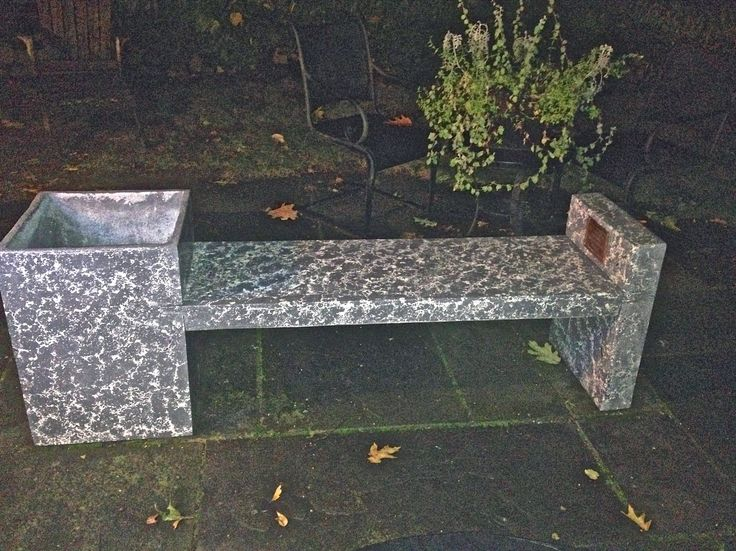 Planter Bench, Oct 2014. GFRC Concrete, Press Method. 18