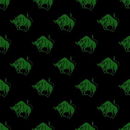 Free Green Taurus Astrology On Black Background | Twitter Backgrounds | Wallpaper Images | Background Patterns