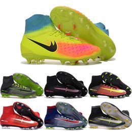 Wholesale 2016 Cheap Football Shoes Women Mercurial Superfly V FG Soccer Boots Boys Girls Sneakers Children's Sports Shoes Size 3-6.5