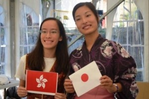 A student from China (left) and a student from Japan (right). #IBWSC12 #Segovia