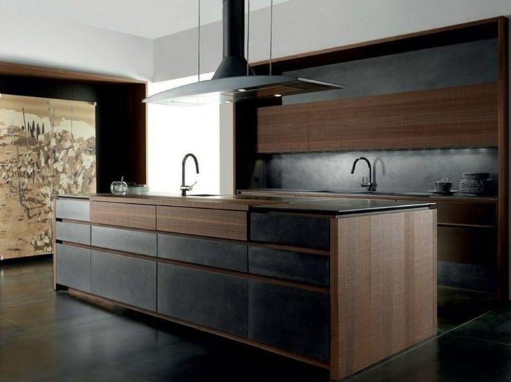 Einbauküche mit Kochinsel und zwei Spüllen Küche Pinterest - arbeitsplatte küche nussbaum