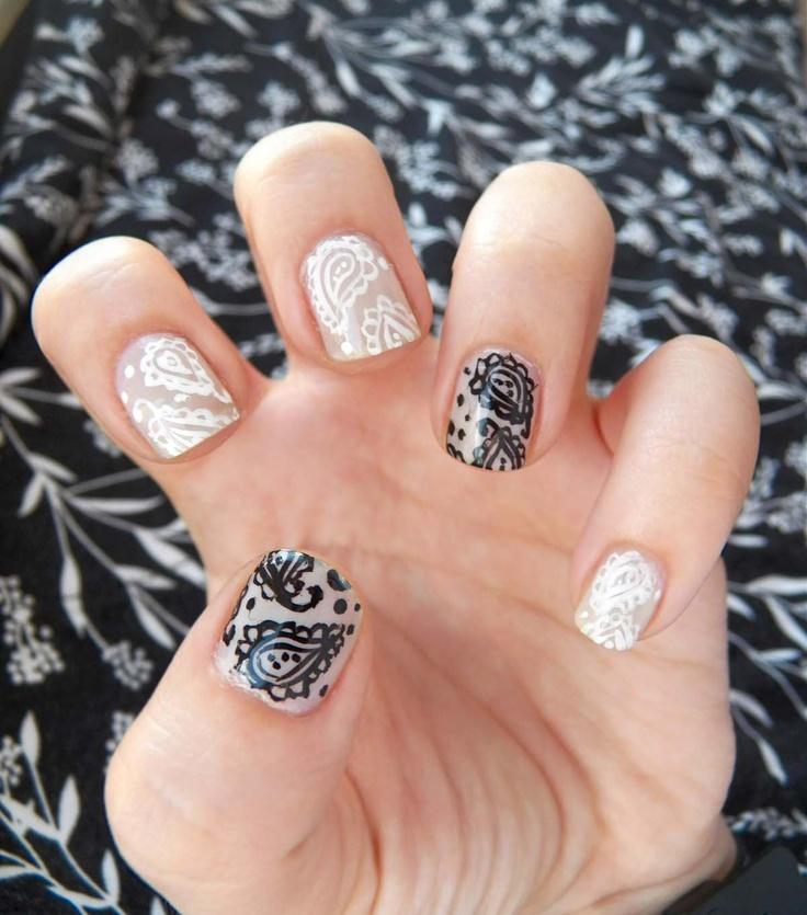 Paisley Nail Art: Pretty (Squared): Paisley Nails