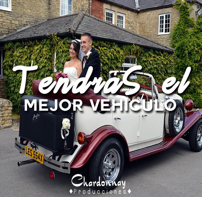 Te conseguimos el mejor transporte para tu boda #chardonnayproducciones #weddingchile #Chile #boda