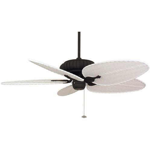 Belleria Textured Black Ceiling Fan with White Blades