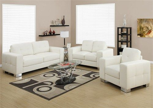 Chair - Ivory Bonded Leather / Match - Monarch Specialty I-8221IV