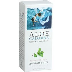 Aloe Cadabra Natural Organic Personal Lubricant  Peppermint Tingle  2.5 oz