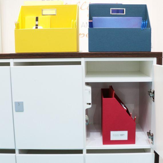Casier Interne Pour Bureau Partage En Carton Bleu En 2020 Bureau Partage Casier Bureau